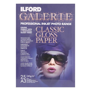 PAPEL ILFORD A3 25H CLASSIC GLOSS 240 GR