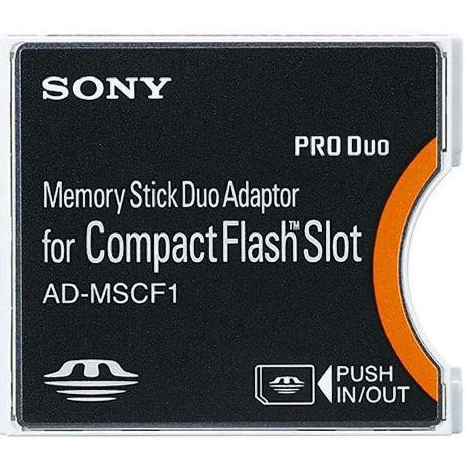 ADAPTADOR SONY AD-MSCF1 DE MEMORY STICK DUO A COMPAC FLASH SONY