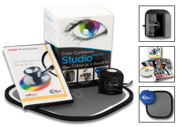 KIT X-RITE STUDIO PHOTO (COLORMUN DISPLAY+KODAK+REFLECTOR)