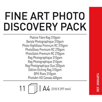 MUESTRAS PAPEL CANSON A4 FINE ART PHOTO DISCOVERY PACK (10H)