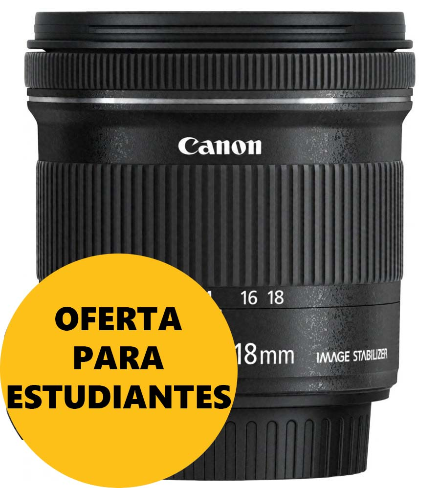 OBJETIVO CANON EFS 10-18/4.5-5.6 IS STM