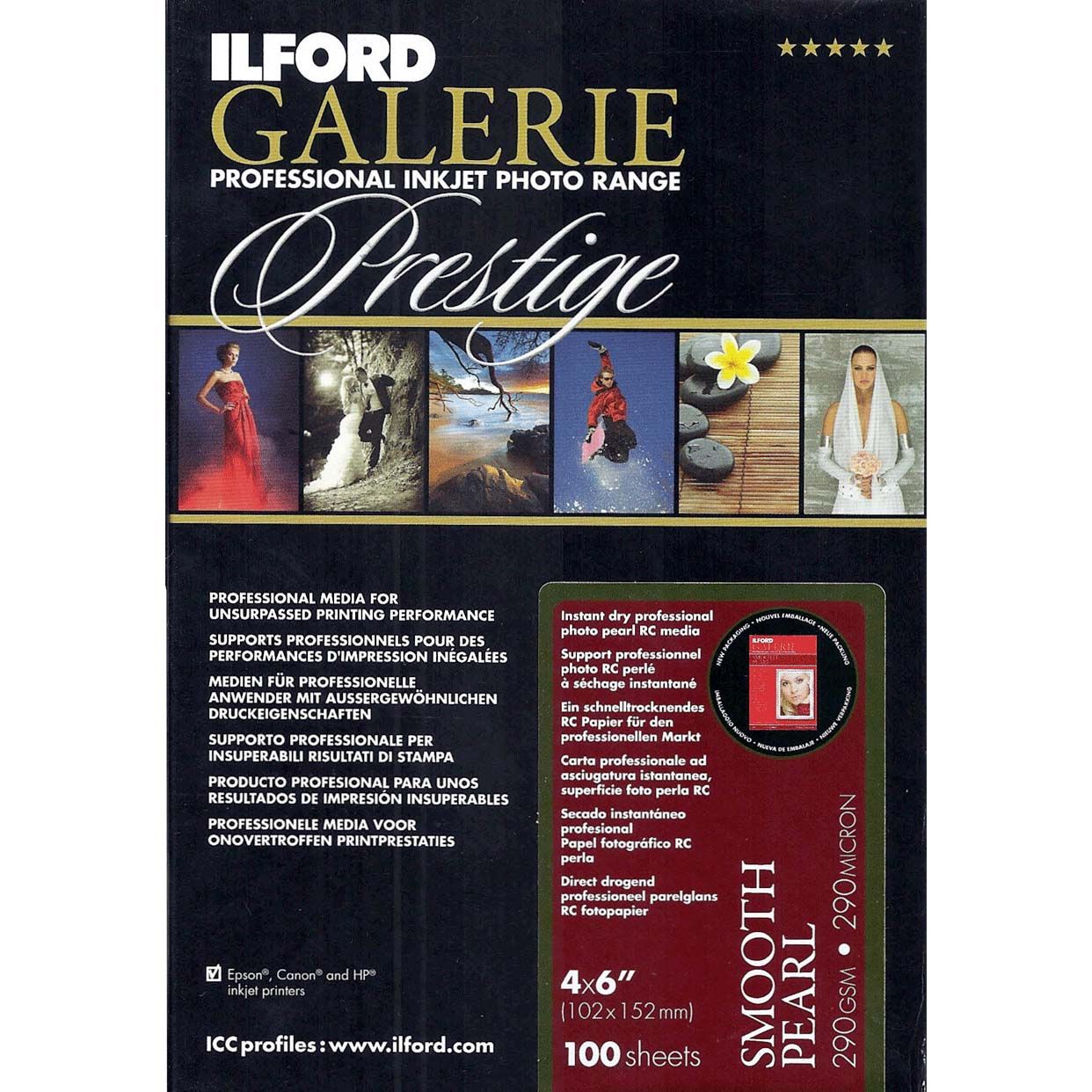 PAPEL ILFORD 10x15 100H GALERIE SMOOTH PEARL 290 GR ILFORD
