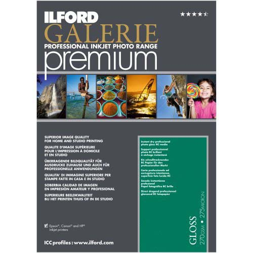 PAPEL ILFORD A3+ 25H PREMIUM GLOSS 270 GR ILFORD