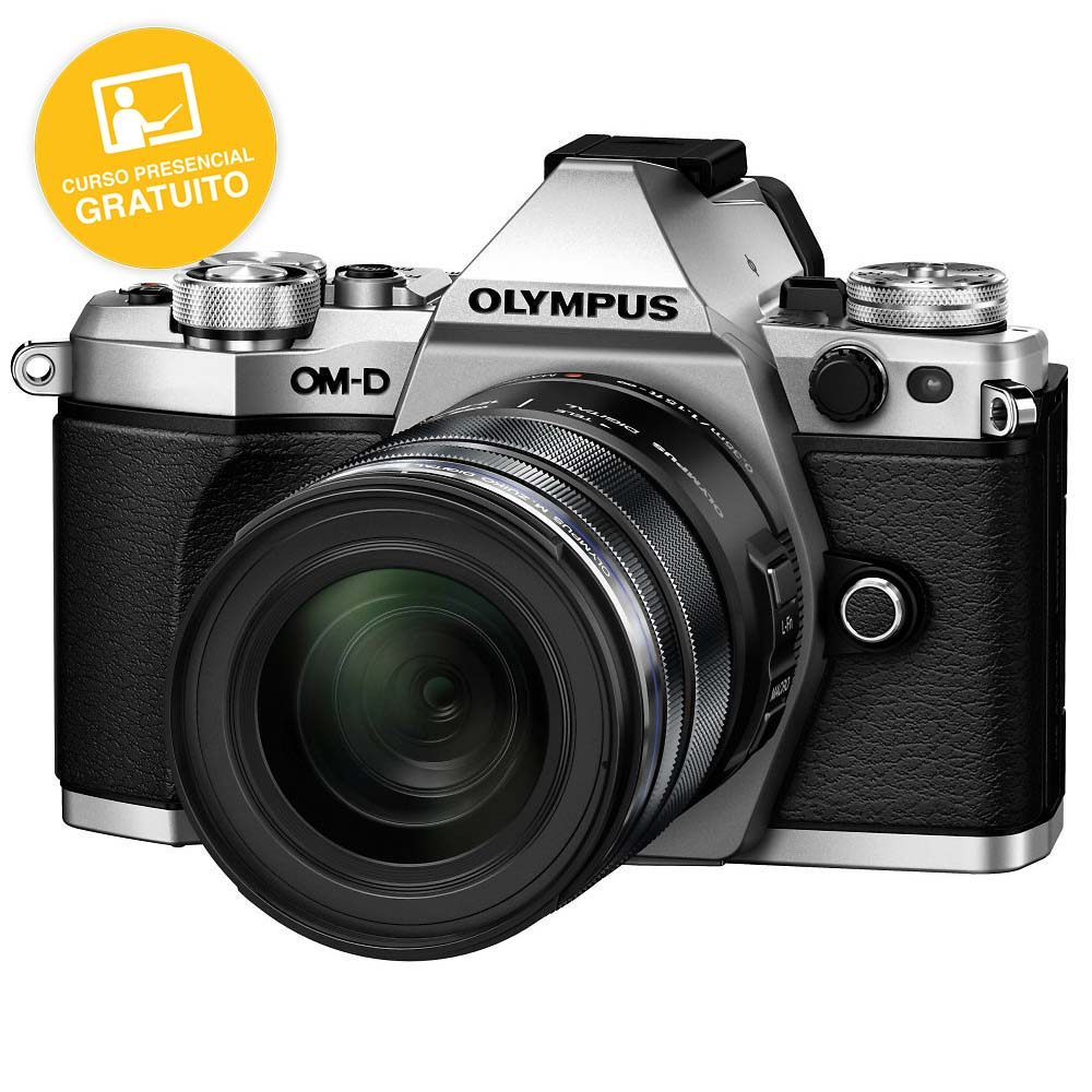 KIT OLYMPUS OM-D EM-5 MARK II SILVER + 12-50 BLACK
