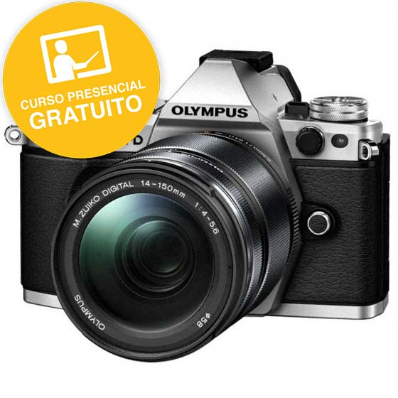 KIT OLYMPUS OM-D EM-5 MARK II SILVER + 14-150 BLACK