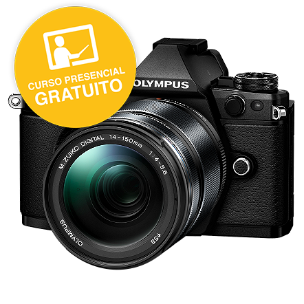 KIT OLYMPUS OM-D E-M5 MARK II BLACK + 14-150 BLACK OLYMPUS