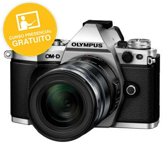 KIT OLYMPUS OM-D EM-5 MARK II SILVER + 12-40 BLACK