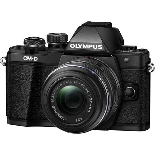 KIT OLYMPUS OM-D E-M10 MARK II + 14-42 II R BLACK/BLACK