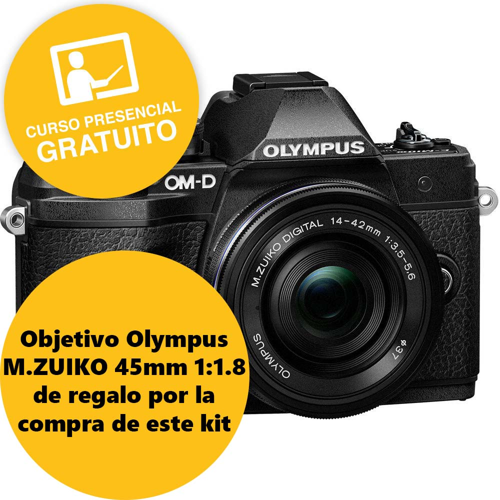 KIT OLYMPUS OM-D EM-10 MARK III + 14-42 II R BLACK/BLACK
