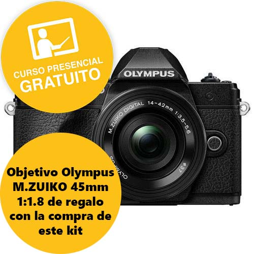 KIT OLYMPUS OM-D EM-10 MARK III + 14-42 EZ BLACK/BLACK