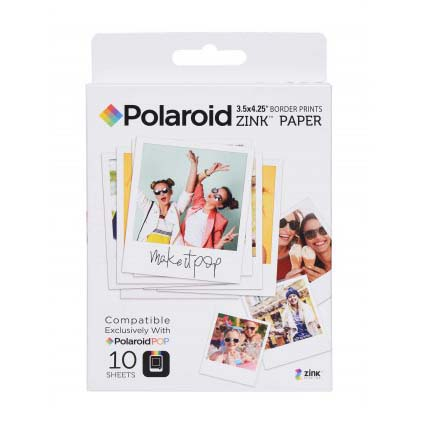 PAPEL POLAROID ZINK (10 FOTOS) 3.5x4.25 P/CAM POP