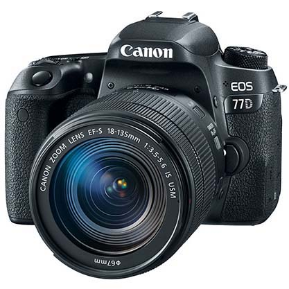 KIT CANON EOS 77D + EFS 18-135/3.5-5.6 IS NANO USM CANON