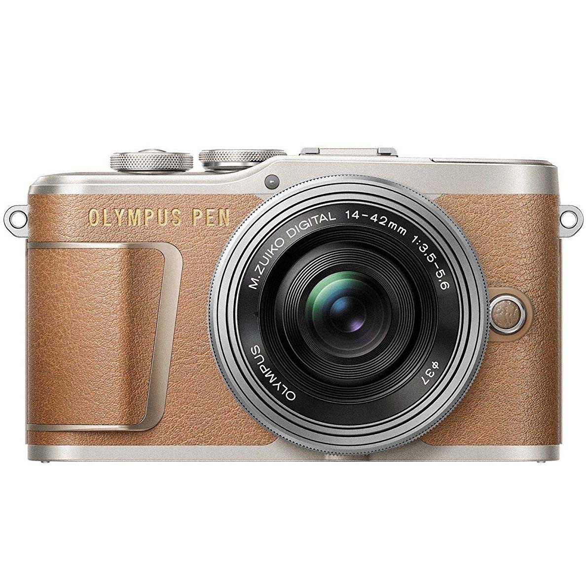 KIT OLYMPUS E-PL9 + 14-42 EZ BROWN/SILVER