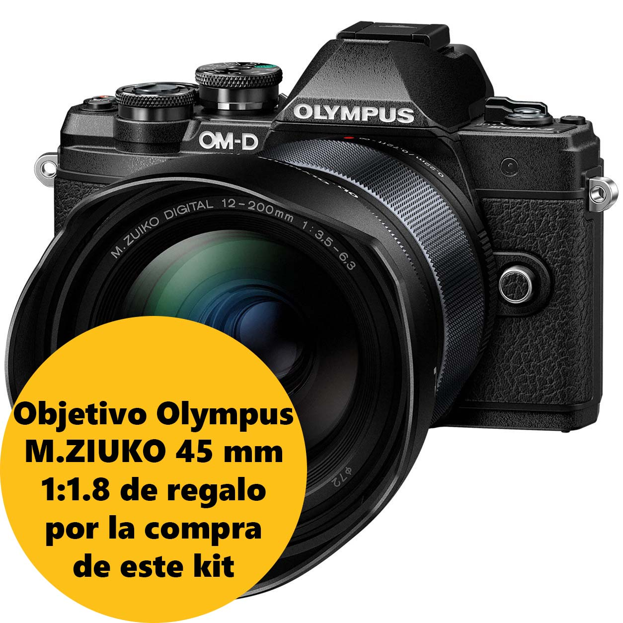 KIT OLYMPUS OM-D EM-10 MARK III + 12-200 BLACK