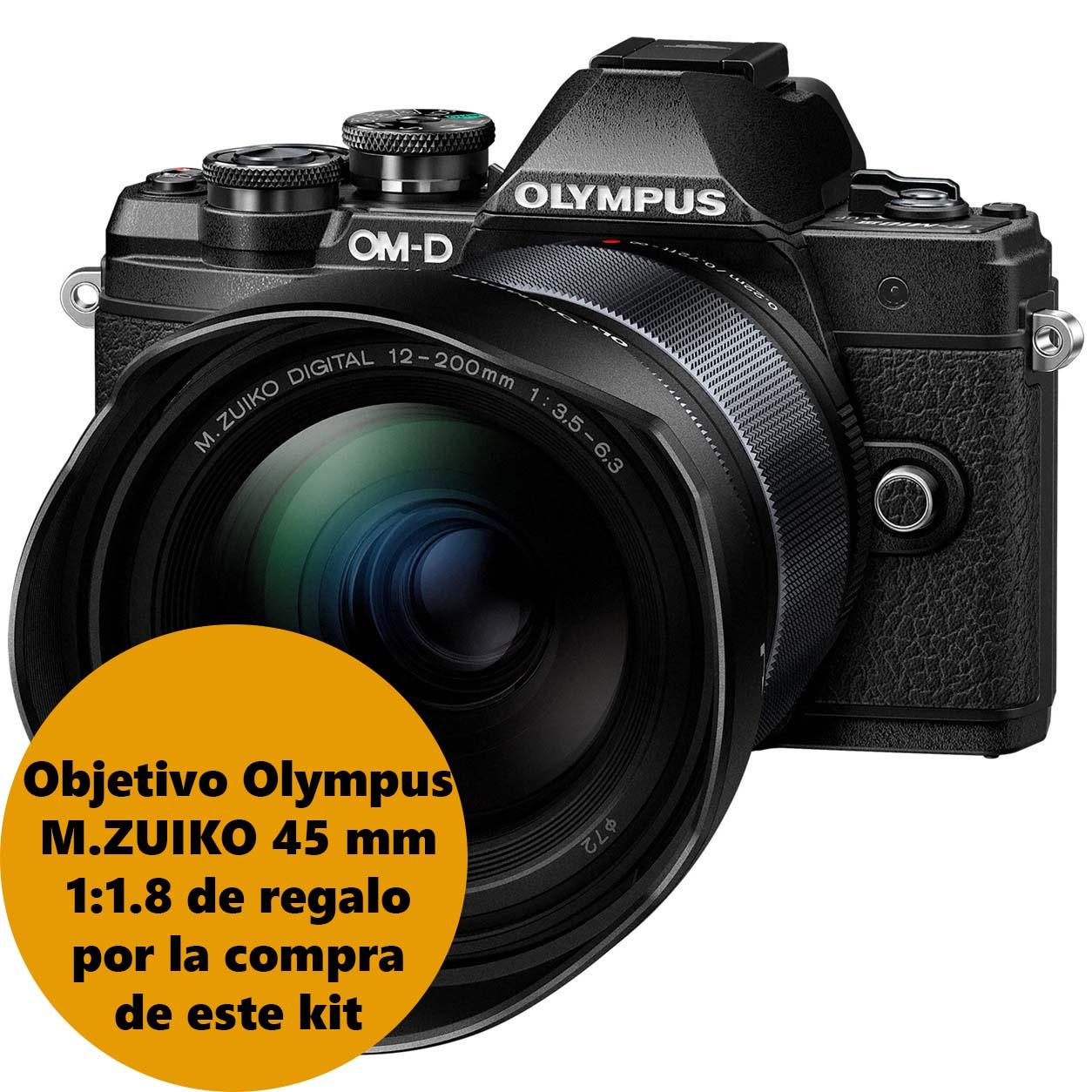 KIT OLYMPUS OM-D E-M10 MARK III + 12-200 BLACK