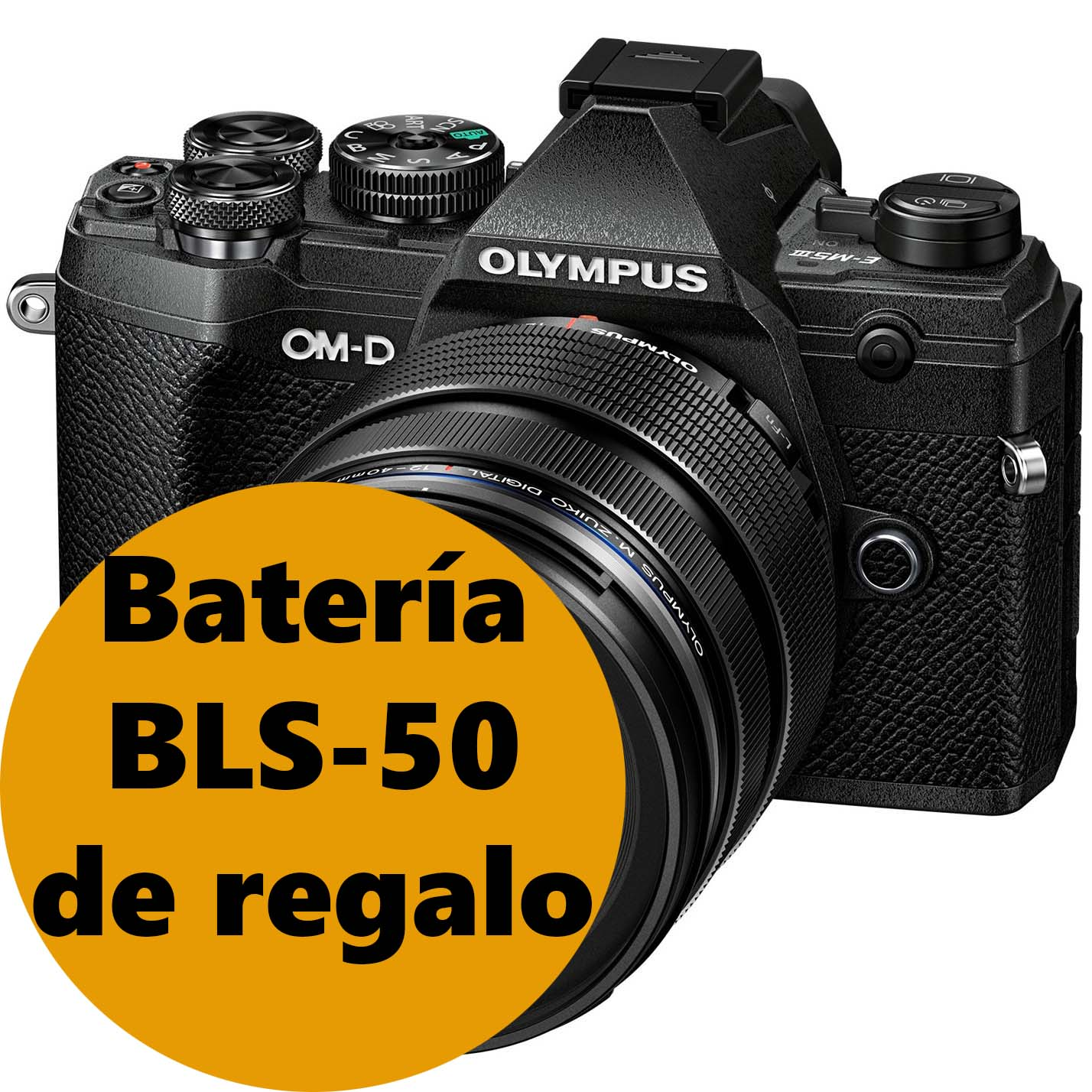 KIT OLYMPUS OM-D E-M5 MARK III BLACK + 12-40 BLACK