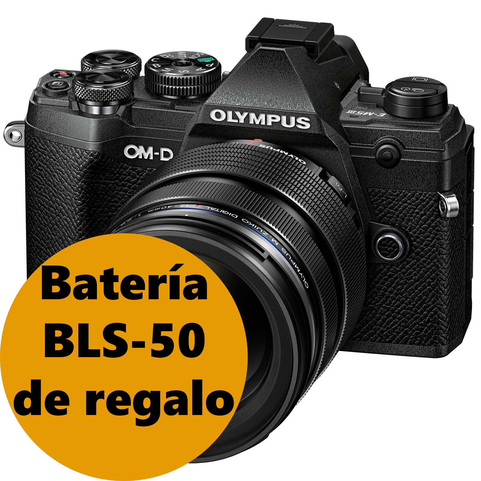 KIT OLYMPUS OM-D E-M5 MARK III SILVER + 12-40 BLACK