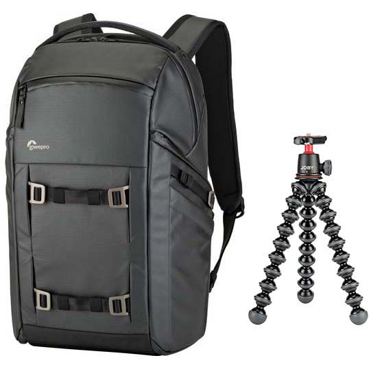 KIT LOWEPRO FREELINE BP 350 AW BLACK + TRIPODE GORILLAPOD 3K