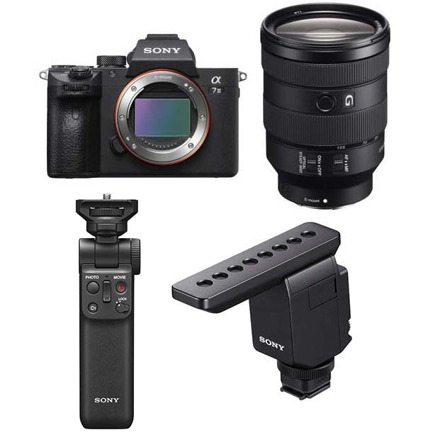 KIT SONY A7 III + 24-105 + MICROFONO ECM-B1M + VP-VPT2BT