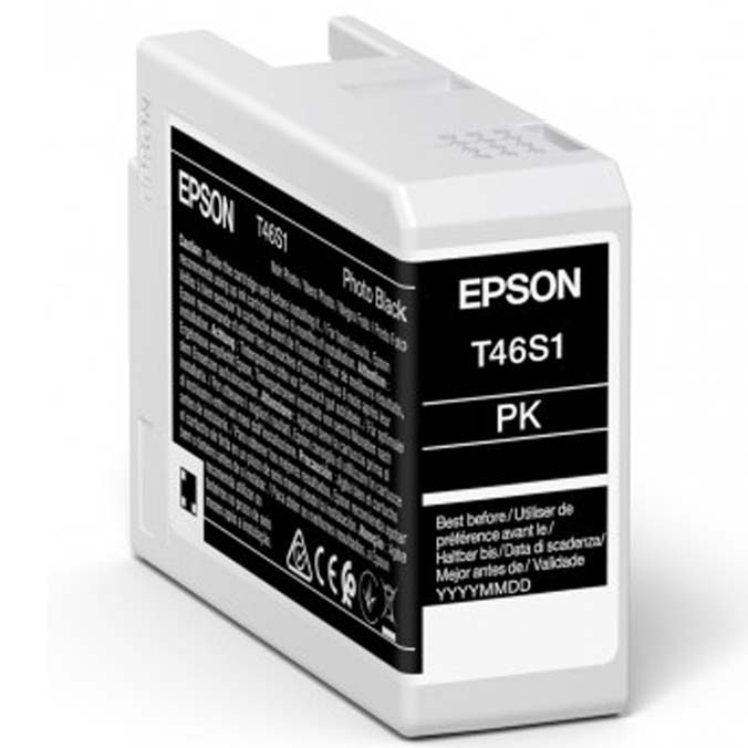 TINTA EPSON T46S1 NEGRO PHOTO P/SURECOLOR SC-P700 25 ml EPSON