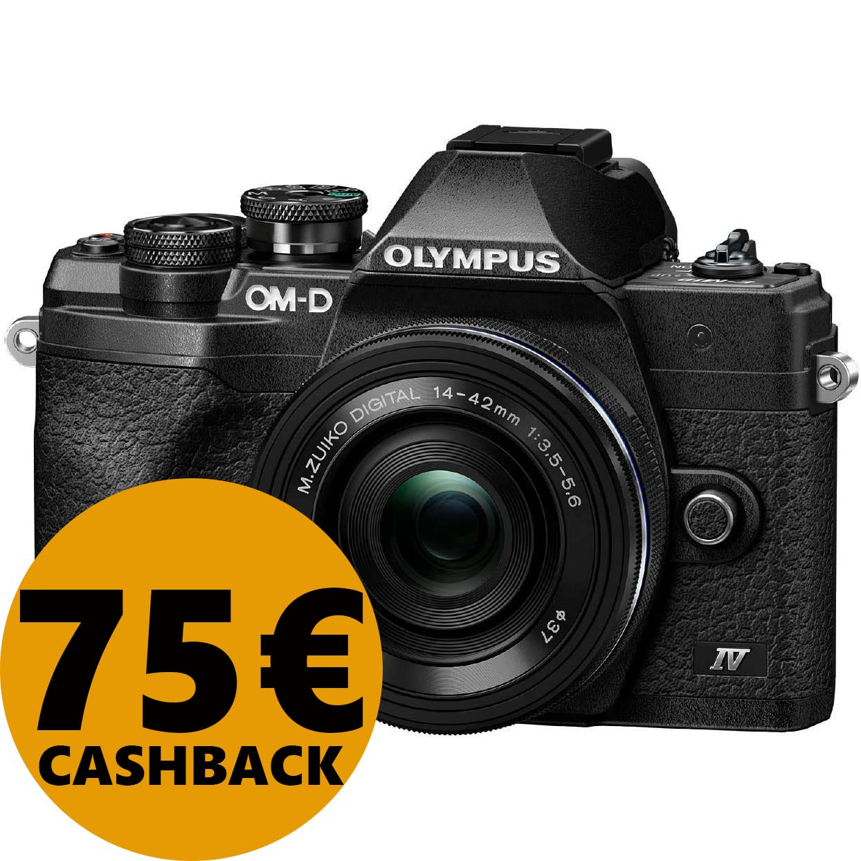 KIT OLYMPUS OM-D E-M10 MARK IV + 14-42 EZ BLACK/BLACK