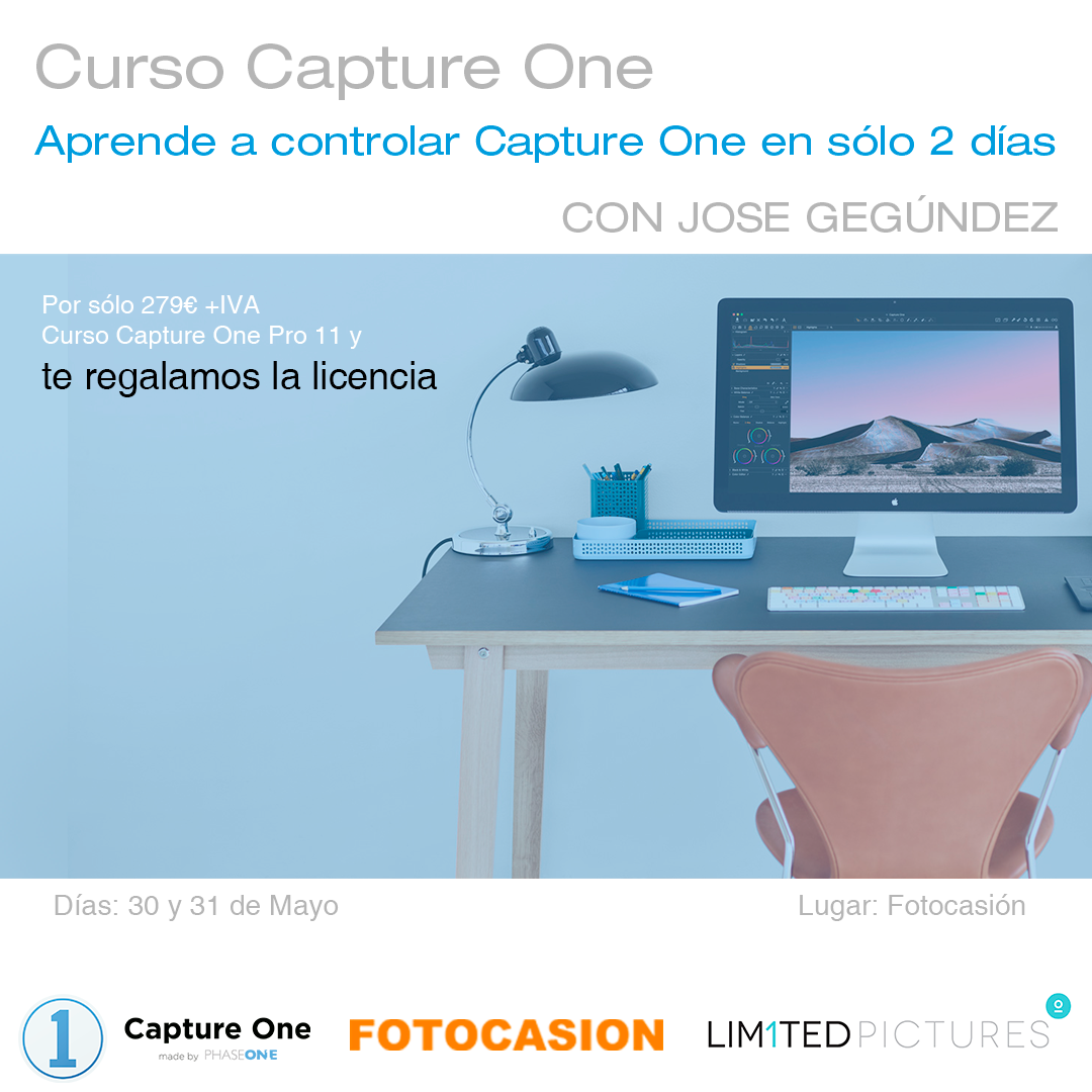 TALLER CAPTURE ONE (INCLUYE LICENCIA CAPTURE ONE PRO 11)